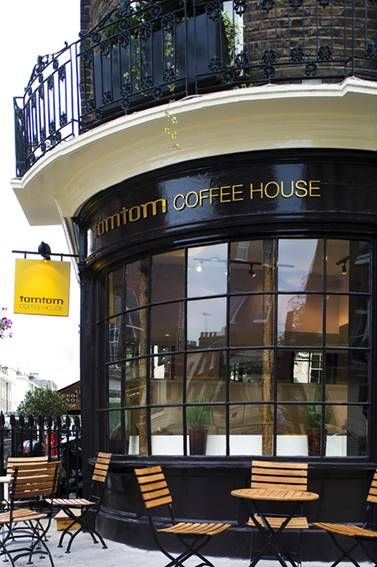 Belgravia, London, UK ~ Tomtom coffee house is more than just another coffee bar. Their aim is to provide the finest cup of coffee in London.