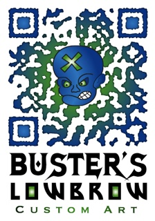 Custom QR Code for our client - Buster's Lowbrow Custom Art