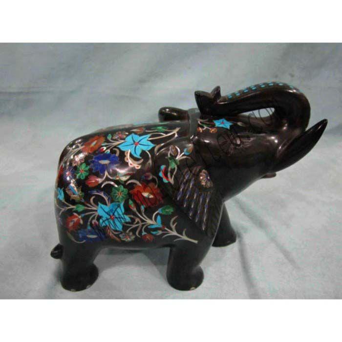 Items Similar To Marble Elephant Statue / Animal Figurines / Stone Inlay  Handicrafts / Hand Made Antique Pietra Dura Art On Etsy
