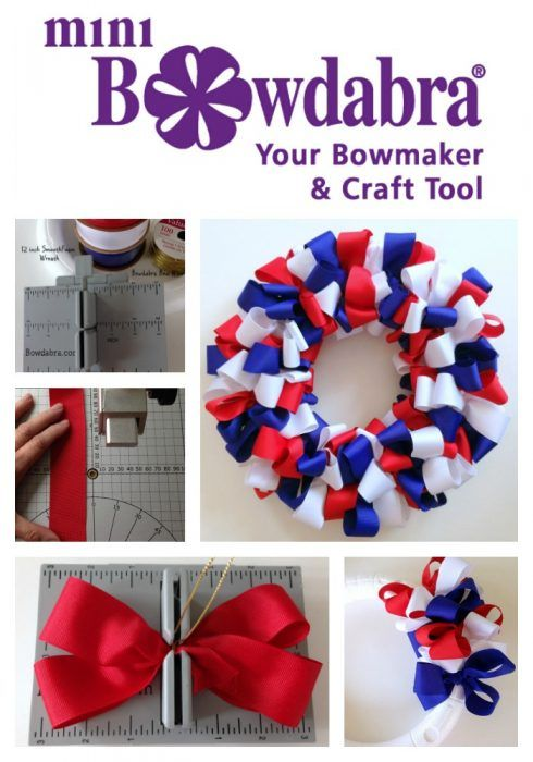 Marvelous How To Make An Adorable Patriotic Ribbon Bow Wreath Nice Design