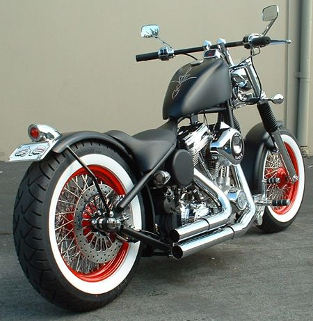 Proper Chopper's 'Old School Hardtail Bobber'.    http://onlinechoppers.co.uk/