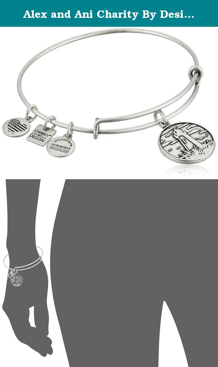 """Alex and Ani Charity By Design Lighthouse - Leukemia and Lymphoma Society Rafaelian Silver Bangle Bracelet, 2.4"""". A lighthouse is a welcoming structure, a reassuring sign of steady ground ahead, and an optimistic symbol of hope for all looking to move forward safely. It is an emblem of strength located at the edge of unpredictable tides as it provides navigational guidance and bright light in a storm. Resilient and immovable, this shining beacon encourages perseverance even in the darkest..."""