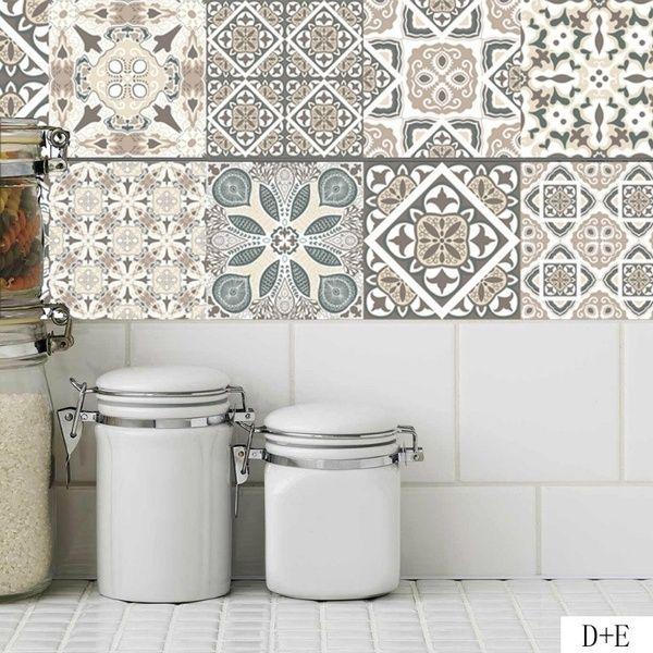 Mosaic Kitchen Bathroom Waterproof Decals Tile Wall Sticker Home Decor Adhesive
