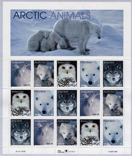 Arctic Animals Pane Of 15 X 33 Cent U Arctic Animals Artic Animals Animals