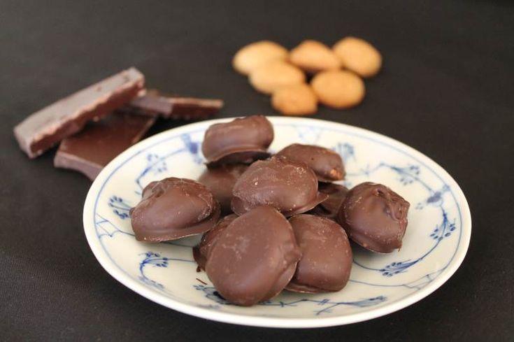 Chokolade overtrukne pebernødder