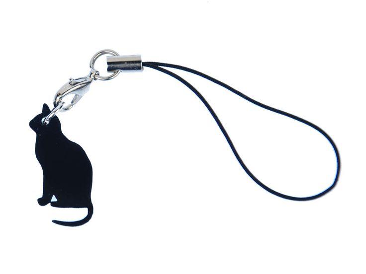 Katzen Handyanhänger Miniblings Schwarze Katze Mystik Haustier Elegant Tier LC by Miniblings on Etsy https://www.etsy.com/listing/506418960/katzen-handyanhanger-miniblings-schwarze