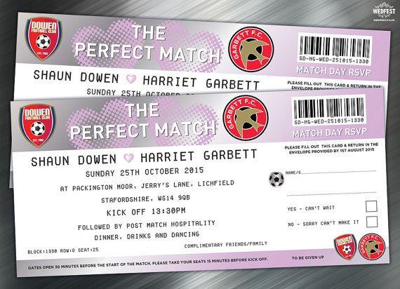 Voetbal Ticket huwelijksuitnodigingen (proefpakket) ** Deze aanbieding is voor een PROEFPAKKET van voetbal thema bruiloft nodigt... om een volledige bestellen of informeren naar prijzen Stuur mij een directe boodschap via ETSY *** //////////////////// Deze voetbal Ticket huwelijksuitnodigingen zijn perfect voor voetbal liefdevolle paren. Deze nodigt noodzaak gezien worden om te worden gewaar...