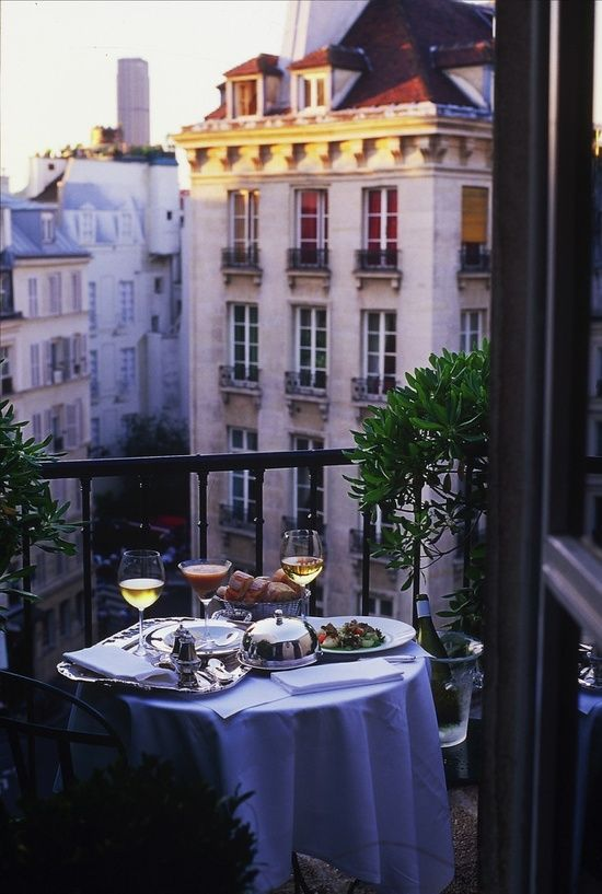 a small balcony please transported from Hotel Le Relais Saint Germain, Paris