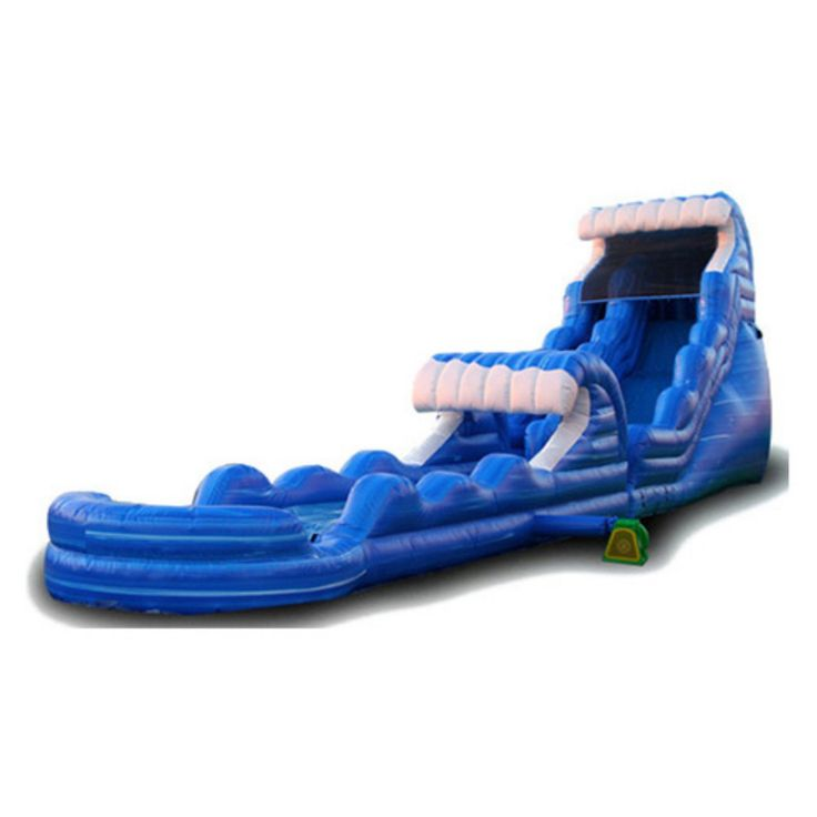 EZ Inflatables 22 ft. Tsunami Blue Marble Water Slide - WS180