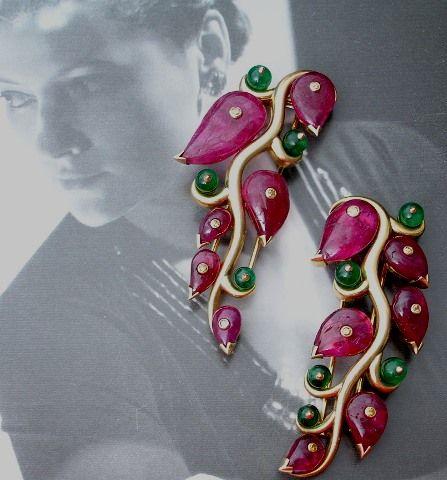 Suzanne Belperron - Circa 1938 rubies and emeralds, diamonds...superb!