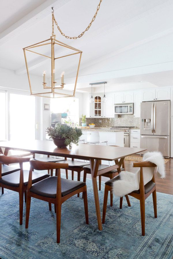 Great Mid Century Modern Dining Room: Http://www.stylemepretty.com/