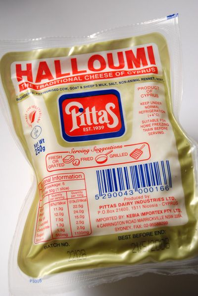 Halloumi, the traditional cheese of Cyprus