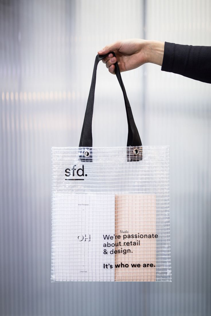 sfd branding for Euroshop 2017 translucent bag