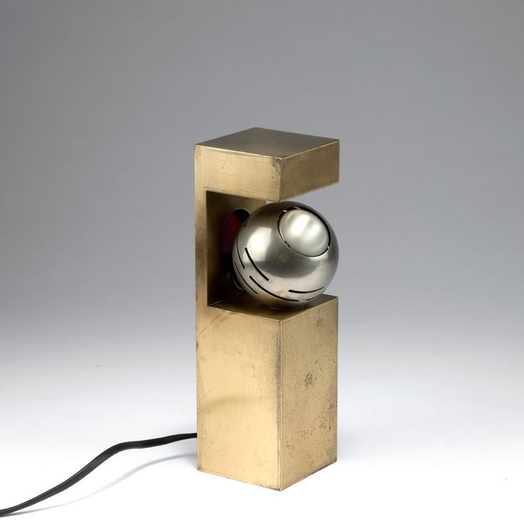 Angelo Lelli; Brass and Nickeled Metal 'Contrast Mini Spotlight' for Arredoluce, 1962/63.