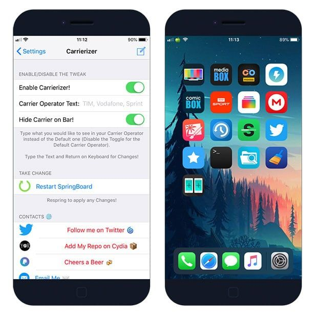 Change Iphone Carrier Name On Ios 12 Iphone Carrier Iphone Carriers