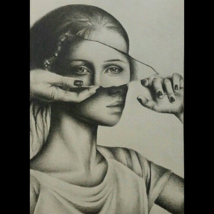 """""""Fight with your strenght, not with others' weakness. Succes lies in your effort, not in their defeat"""" ♡ pencil sketch #artist #mirror"""