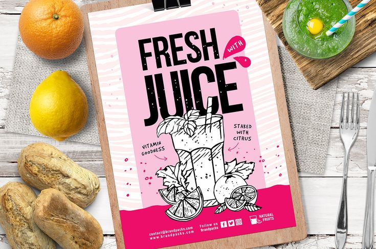 Free Juice Bar Poster Flyer Template In Psd Ai Vector Brandpacks Bar Poster Juice Bar Flyer Template