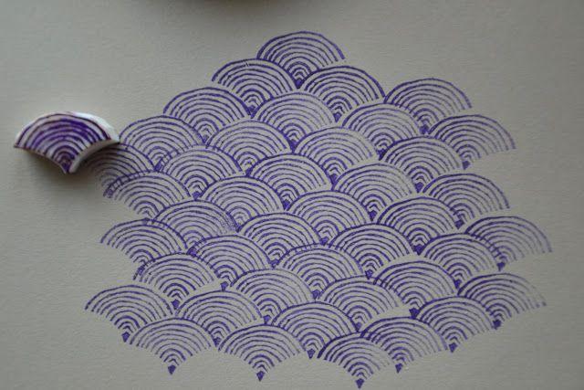 stamp. La Fabutineuse: Motif japonisant