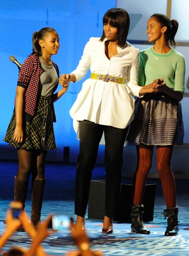 Michelle Obama Daughters 2013