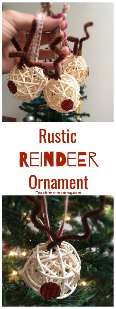 Rustic Reindeer ornament, easy to make and great as gifts!