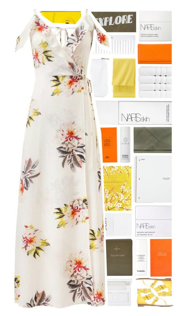 """""""Festival Fashion: Maxi Dress"""" by xgracieeee on Polyvore featuring Smythson, Hermès, NARS Cosmetics, Christy, Nails Inc., Uniqlo, Auteurs Du Monde, Five Star, Izola and FOSSIL"""