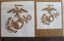 Conjunto de estêncil Padrão Modelo Corpo De Fuzileiros Navais Usmc Eagle Âncora Pintura Aerógrafo