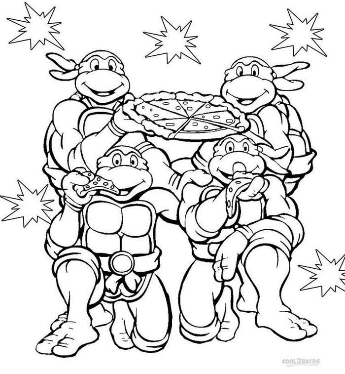 Tmnt Coloring Pages English Images
