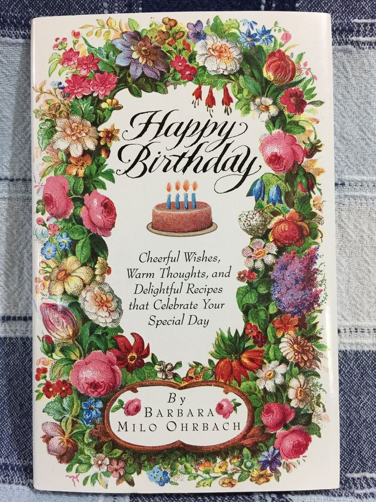 Vintage 1994 Happy Birthday By Barbara Milo Ohrbach cheerful wishes warm thoughts and delightful recipes that celebrate your special day by thelittleblackbarn on Etsy