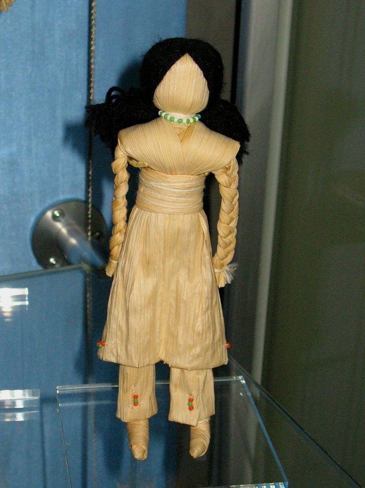 Native American Corn Husk Dolls | Corn Husk Doll made by a Seneca Indian by Kim Smith in Seneca people ...