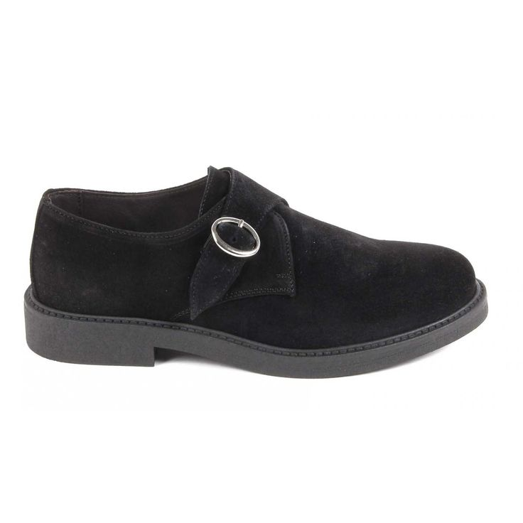 Versace 19.69 Abbigliamento Sportivo Srl Milano Italia Mens Monk Strap Shoe V134 CAMOSCIO NERO