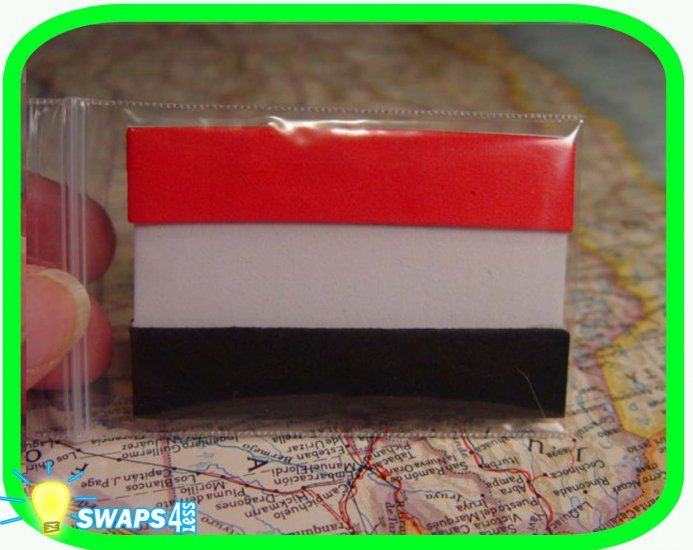 Flag of Egypt - Thinking Day     These cute, nice quality Flag of Egypt swaps are made of craft foam and protected by 2 x 3  zip lock baggies. These a