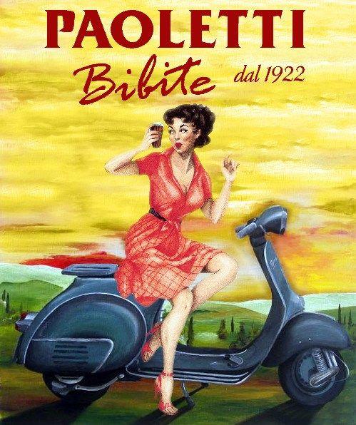 Vintage Italian Posters ~ #illustrator #Italian #posters ~ Paoletti bibite (AP)