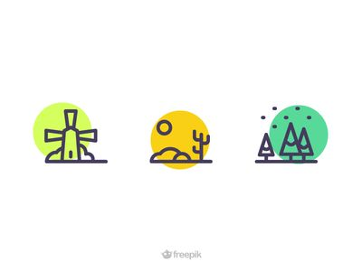 Dribbble - Landscape Icons by Sooodesign
