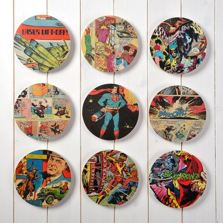 Superhero comic book 9 circles wall art