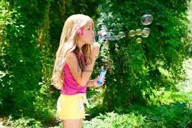 идея для фото- в платье дует пузыри