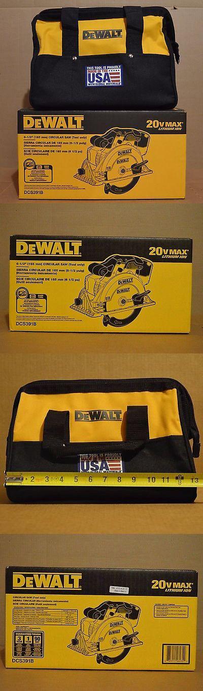 tools: Brand New Dewalt Dcs391b 20V Max Li-Ion 6-1/2 Cordless Circular Saw + 13 Bag BUY IT NOW ONLY: $117.99
