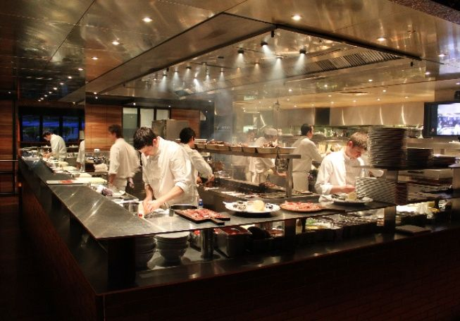 Rockpool Bar and Grill, Southbank,  Melbourne. One of Neil Perry's ventures. Check out their menu on their website...