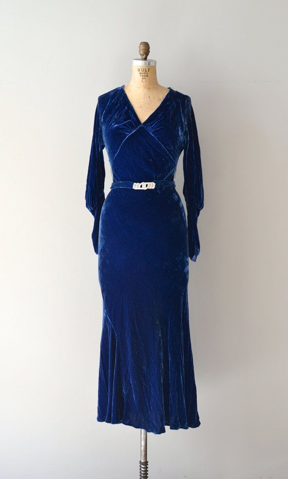 Savoy Plaza dress / vintage 30s dress / 1930s silk by DearGolden, $354.00