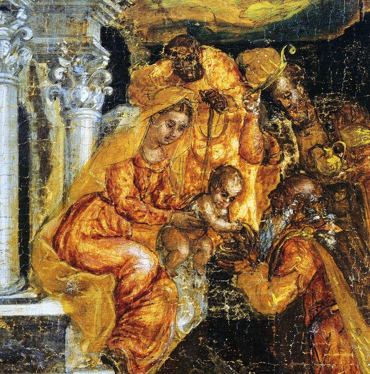 Christmas Card - Adoration of the Magi. ATHENS – BENAKI MUSEUM, 3048 – D. THEOTOKOPOULOS (EL GRECO). THE ADORATION OF THE MAGI. CIRCA 1565. Text card: blank