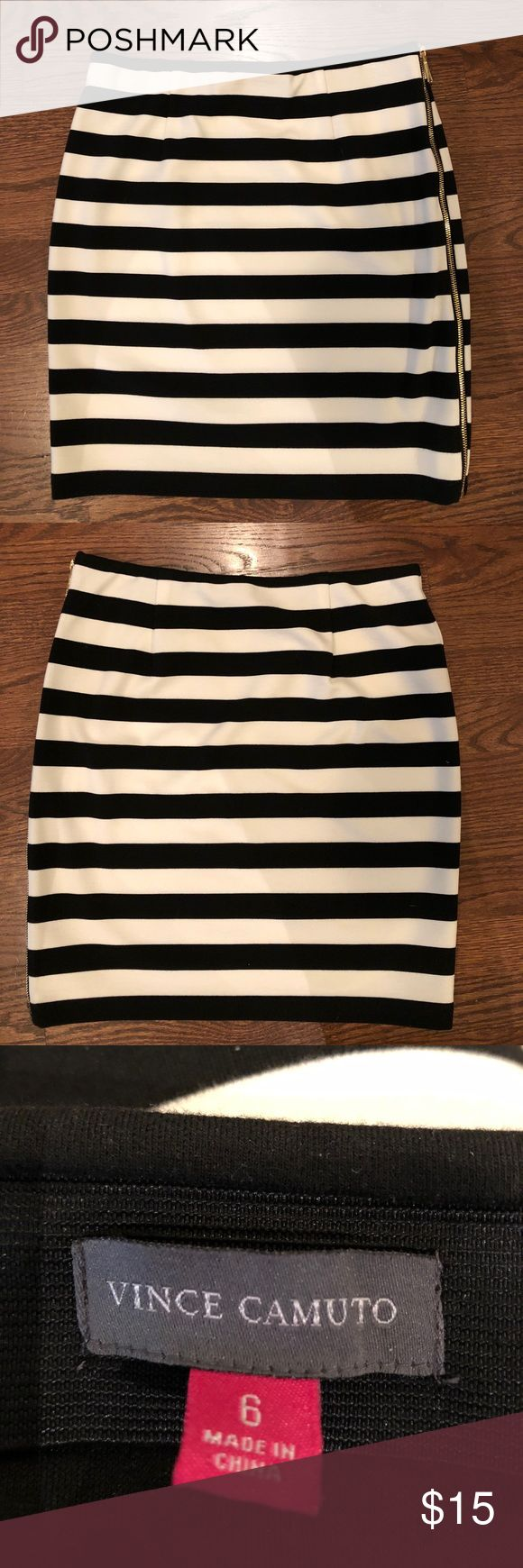 """Vince Camino Jersey Knit Skirt Vince Camino Jersey Knit Skirt. Thick material with comfortable elastic waist  Size 6  Worn once.  19"""" length Vince Camuto Skirts Mini"""