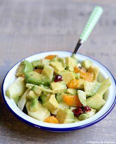 Salade d'avocats, clémentines et pomme verte