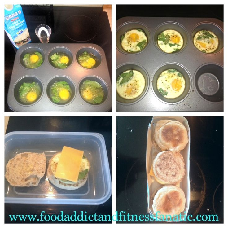 One of my favorite breakfasts to make with my weekly meal prep!  Protein, carbs, and easy to take with you on the go during busy mornings!