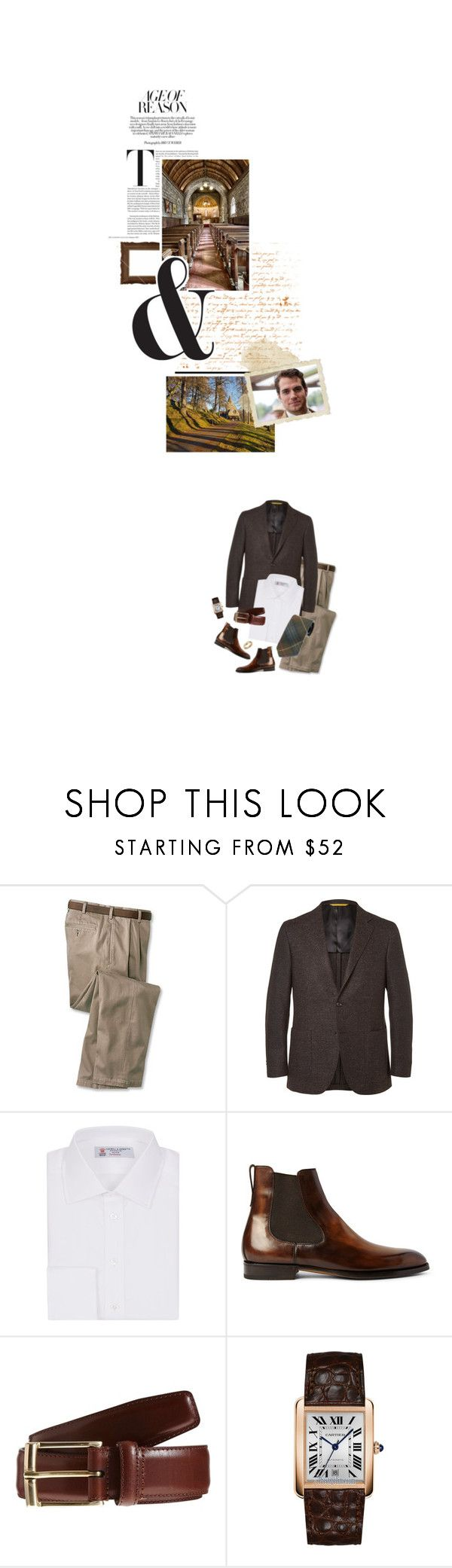 """""""(A) Attends church at Crathie Kirk on the Balmoral Estate"""" by immortal-longings ❤ liked on Polyvore featuring Canali, Turnbull & Asser, Berluti, Crockett & Jones, Cartier, men's fashion and menswear"""
