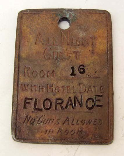 Soiled Doves of Dodge City | ... | LONG BRANCH SALOON DODGE CITY 'FLORENCE' BROTHEL TOKEN : Lot 296
