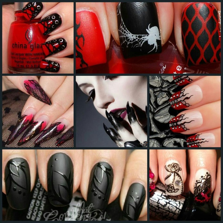 Love all these gothic nail designs - 238 Best Gothic Nail Art Tutorials & Video By Nded Images On