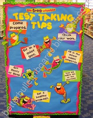 Better Bulletin Boards: Un-frog-ettable Test Taking Tips