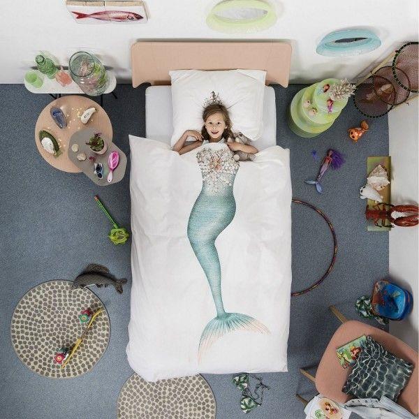 Copripiumino Sirenetta #copripiumini #camerettabambini #kidsroomdesign #kidsroom #snurk #camerettadipippi