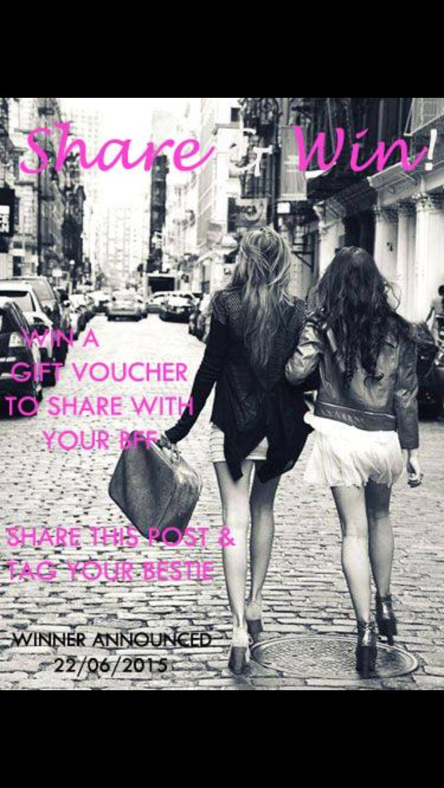 Win a #gift #voucher to share with your #BFF!  Just head to  www.facebook.com/apple.treeboutique.5  Share this post and tag your #bestie for your chance to #win