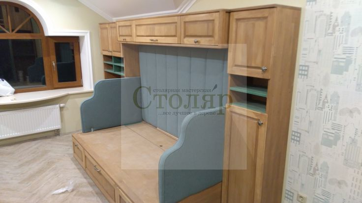 Подростковая мебель по индивидуальному заказу спальное место с местом для парты трансформер
