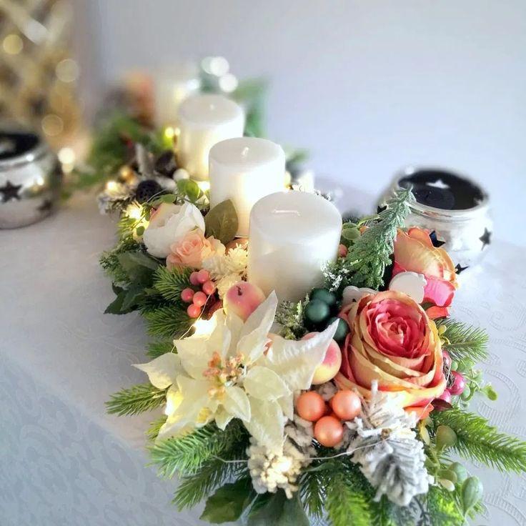Stroik Adwentowy Swiateczny Poranek Nr 248 Swiateczne Atelier Table Decorations Florist Decor